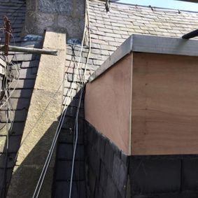 sloped and flat roof