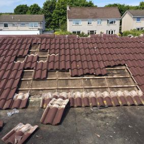 fixing tiled roof