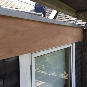 fixed flat roof