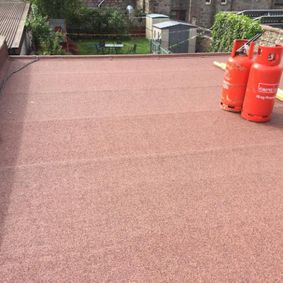 flat roof with gas canisters